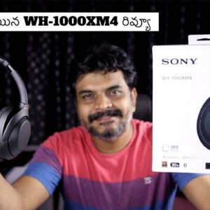 Sony WH-1000XM4 Premium Wireless Active Noise Cancelling Headphones Review II in Telugu ll